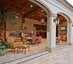 Retractable screens at the InSync Home, Baldwin Park, FL - mediterranean - pool - tampa - Phantom Screens