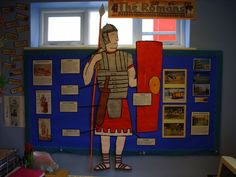 Romans Classroom Display from Tugby Church Of England Primary School