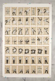 William Kentridge, His Master's Cat, 2012, Drawing: Charcoal, chalk and coloured pencil on found pages pinned to Velin Arches 400gsm