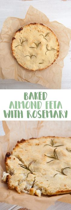 Baked Almond Feta with Rosemary | Elephantastic Vegan