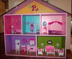 DIY Barbie house!!