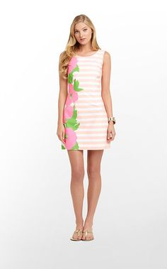 Delia Dress - I love the striped AND floral pattern! This dress...