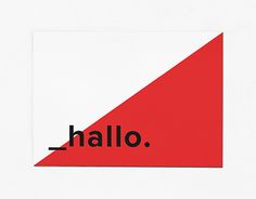 Corporate Design for Medienmittwoch | Postcard, minimalistic, red, bauhaus http://be.net/gallery/54021711/Medienmittwoch