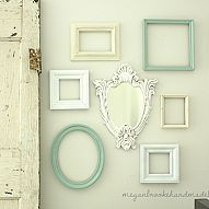 Gallery Wall of Frames & Antique Glazed Mirror