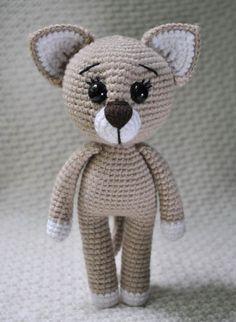 Сrochet lady cat amigurumi pattern