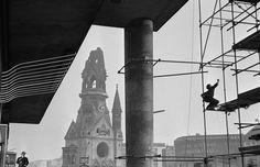 ene Burri GERMANY. West Berlin. 1959. The Kaiser-Wilhem-Gedachtniskirche (the Kaiser Wilhem Memorial Church) bombed during the war and never restored.