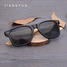 dd3b83283e5 JIANGTUN Vintage Bamboo Leg Sunglasses Men Women Classic Brand Designer  UV400 Wooden Sun Glasses Colorful Coating