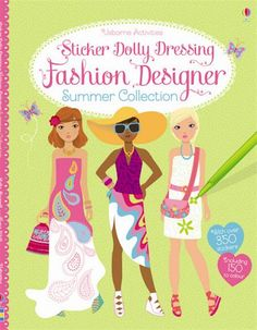 Sticker Dolly Dressing Fashion Designer Summer Collection by Fiona Watt Fiona Watt, Buy Stickers, Dolly Dress, Dressing, English Book, Book People, Book Girl, Kids Fashion, Fashion Design
