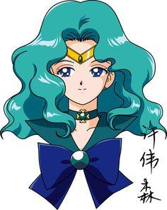 Sailor Neptune Anime Style by xuweisen on deviantART