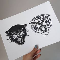 Two tigers either side chest. Tiger Head Tattoo, Head Tattoos, Sleeve Tattoos, Body Art Tattoos, Big Cat Tattoo, Buddha Tattoos, Portrait Tattoos, Old School Tattoo Motive, Old School Tattoo Designs