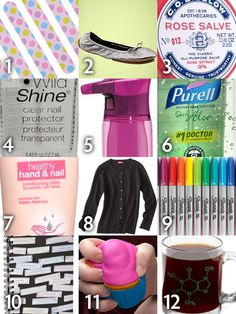 Office must-haves- Emergency Kit essentials-- Wordless Wednesday: Office Essentials Teacher Emergency Kit, Emergency Preparedness, Office Essentials, Office Parties, Clear Nails, Healthy Nails, Style Challenge, Young Professional, Professional Development