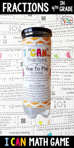 Fractions Fourth Grade Math Game