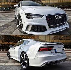 Audi RS 7 Sportback My next car! 4 Door Sports Cars, Sports Sedan, Sexy Cars, Hot Cars, Audi 2017, Audi S5 Sportback, Fancy Cars, Amazing Cars, Luxury Cars