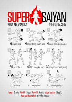 Super Saiyan Workout /// Goku, Gohan, Vegeta... if that is not inspiration then I do not know what is For More Health And Fitness Tips Visit Our Website