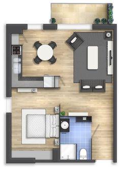 Floor plan rendering 14 by Alberto Talens Fernández at Coroflot.com