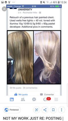 Balayage Color, Blonde Color, Hair Colour, Hair Color Swatches, Hair Color Formulas, Hair Upstyles, Colour Chart, Hair Painting, Hair Looks