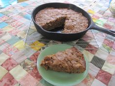 Skillet Apple Brownies | Lillian's Cupboard