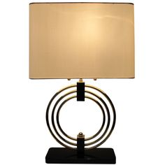 Art Moderne Table Lamp  usa  1940's, 1950's  Modernist Style table lamp with custom shade