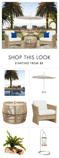 """""""RATTAN EXTERIOR FURNITURE"""" by arjanadesign ❤ liked on Polyvore featuring interior, interiors, interior design, home, home decor, interior decorating, Palecek, Serena & Lily, Home and interiordesign"""