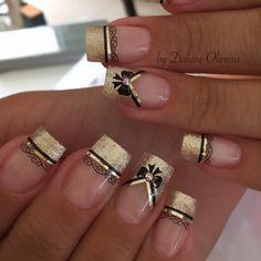 Fall Nail Designs - My Cool Nail Designs Gold Nail Art, Rose Gold Nails, Purple Nails, Glitter Nails, Marble Nail Designs, Nail Art Designs, Nagellack Design, Pearl Nails, Valentine Nail Art