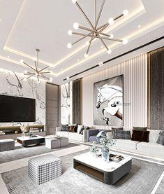Home Room Design, Interior Design Living Room, Living Room Modern, Living Room Decor, Living Rooms, Living Room Tv Unit Designs, Apartment Design, Luxury Living, Modern Interior Design