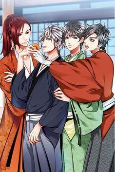 Mah boys. <3  Samurai Love Ballad: PARTY