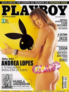 Playboy - Capa: Andrea Lopes, A Tetracampeã doSurf! - Edição Janeiro 2007