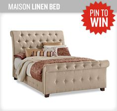 I would love this beautiful bed for my husband (currently deployed)...I hope I win! #NewVCF #PinItToWinIt http://Pinterest.com/zumbaregina