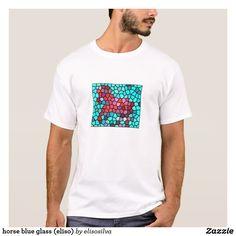 horse blue glass (eliso) camiseta