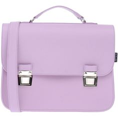 La Cartella Work Bags ($93) ❤ liked on Polyvore featuring bags, handbags, bags and purses, lilac, man satchel bag, lilac purse, satchel bag, satchel purses and pink satchel handbags