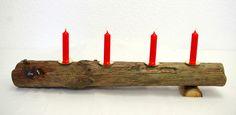 Kerzenständer,Treibholz,17mm Kerzen,Adventsdeko von SchlueterKunstundDesign - Wohnzubehör, Unikate, Treibholzobjekte, Modeschmuck aus Treibholz auf DaWanda.com