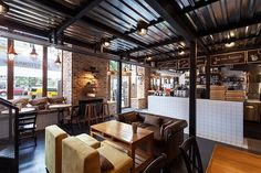 Photographs of True Burger Bar (Kiev, Ukraine) for Kleydesign studio (http://kleydesign.com/)