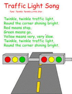 This is a good craft work for children to learn the traffic rules and remember it by singing.