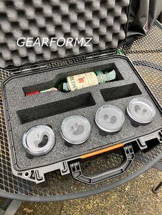 GEARFORMZ Case Inserts- Whiskey/ Cigars!! gearformz.com #whiskey #cigars #customfoam #diyfoam #guncase #pelicanvault Cigar Travel Case, Iwb Holster, Gun Cases, Cigars, Whiskey, Innovation, Content, Cinema, Movie Theater
