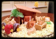 'Gingerbread' Nativity House