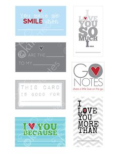 Go Notes- Love Notes For Him. LOVE this!