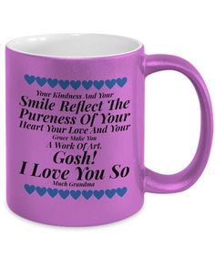 Coffee Mug For Grandma - The Gosh! Collection Gifts for Valentines, Birthdays, Special Occasions: Heartfelt Greetings of Love and Admiration