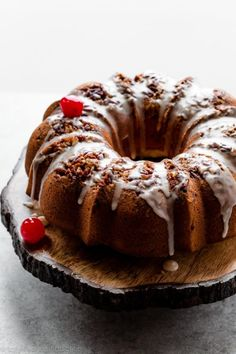 Made completely from scratch without the crutch of cake mix, this homemade rum cake is perfectly moist, extra buttery, and flavored with rum. Homemade Butter, Homemade Cakes, Bundt Cake Pan, Bundt Cakes, Sallys Baking Addiction, Snacks, Christmas Baking, Christmas Cakes, Christmas 2019