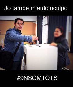 Jo també m'autoinculpo. Ja sabeu on sóc. #9nsomtots #15OperCatalunya #TotsAmbElPresident #9nbatega #democracy #Catalonia #catalunya #democracia #notincpor #freedomforcatalonia #instacat #instagood #instagram #instaday