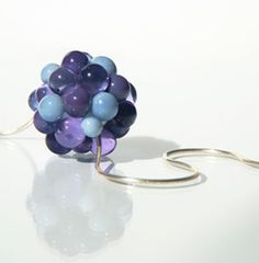 Purple Glass Cluster Necklace