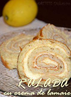 Rulada cu lemon curd (crema de vanilie) - RETETE DUKAN