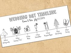 Love this idea for a #DestinationWedding! Wedding Day Timeline by WanderlustWeddings on Etsy, $17.00