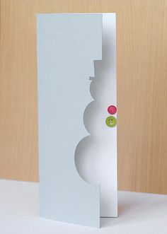 Easiest. Card. Ever. Use simple round and square punches to make this snowman shape, add your buttons, and your Christmas cards are done!