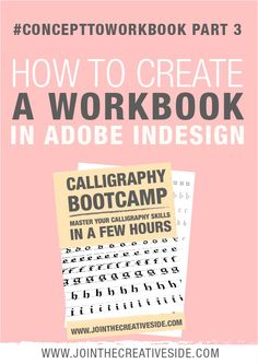 Concept to workbook part 3: Create a workbook in Adobe InDesign |Learn how to create a workbook/printable with Adobe InDesign that will sell/download.