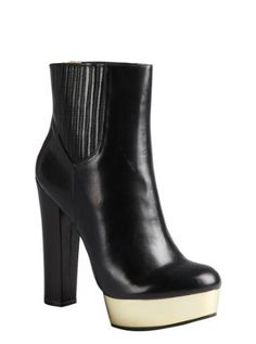black leather mirrored plaform jodhpur 'London' ankle boots