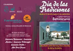 "Betancuria in full glory  From Saturday July 21 to the first of September celebrate the ""Day of Traditions"". Every Saturday (from 11 to 15) you can enjoy folk music and traditional food in a festive atmosphere . Fuerteventura"