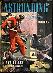 Astounding Science Fiction Vol. 36, No. 2 (Oct., 1945). Cover Art by William Timmins