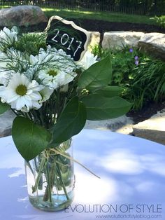 Outdoor Graduation Party Flowers