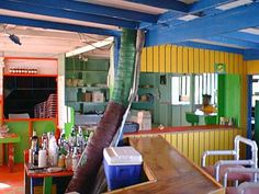 """Palm Grove Bar & Grill - Junks Hole, Anguilla. From the New York Times: """"a beach shack on the island's eastern end, where diners are encourage to snorkel in the bay while their freshly caught lobster ($45) or juicy ribs ($12) are grilled to perfection."""""""