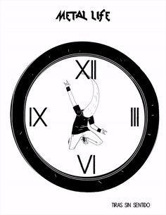 055 #metal #clock #headbanging